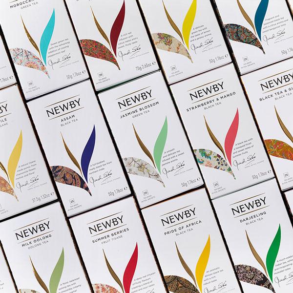 Newby Teas Packaging